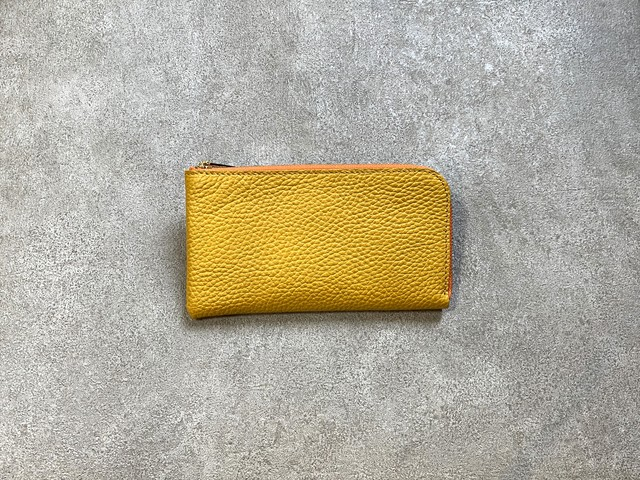 """SHOZO Wallet (soft shrink) : Yellow * Won Grand Prix of the small leather article category in """"Asia Pacific Leather Fair 2019"""""""