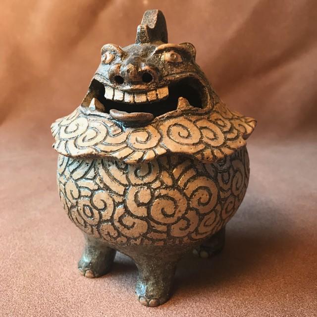 渦文獅子香炉   オンラインギャラリー 小網代陶房