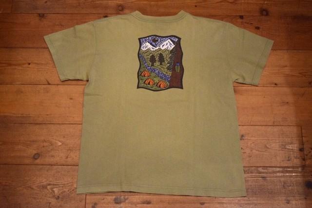 USED USA製 パタゴニア Tシャツ S  オーガニックコットン オリーブ ベネフィシャルT's