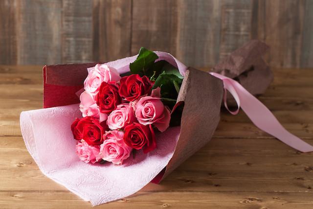 【プレゼントにぴったり】花束/ロングタイプ(ホワイト&ブルー系)