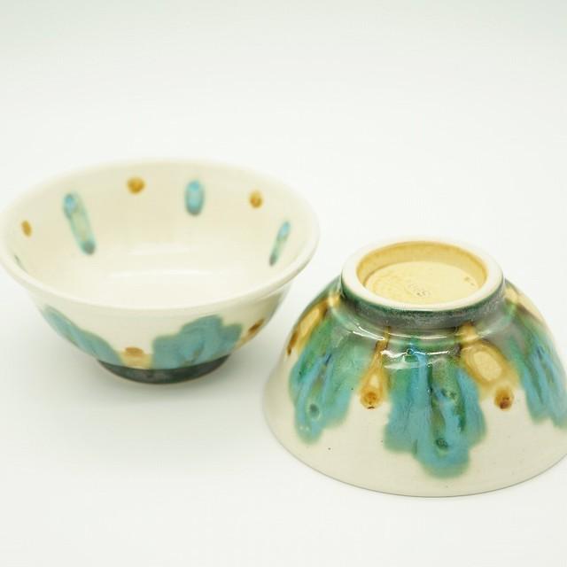 コマカアイランドブルー3寸皿 2個セット【玉城焼】