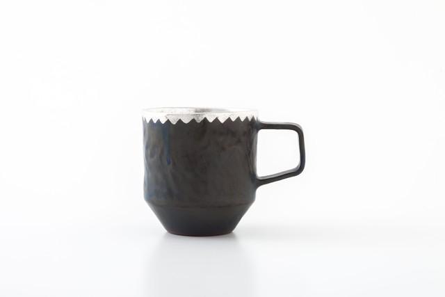 stacking mug:銀縁波(01-5) / holk store × 中囿義光