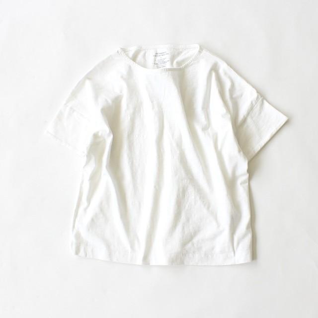 【LE VENT SOUFFLE】  スラブ天竺 バックタックボートネックTシャツ