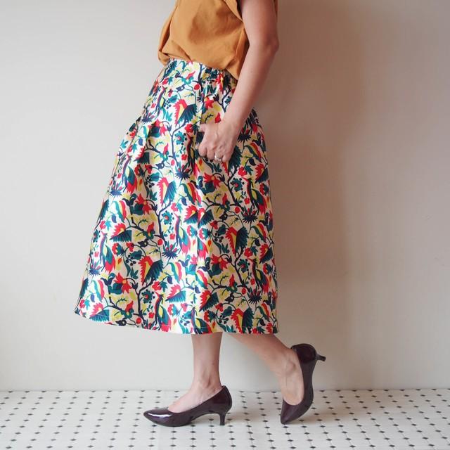 きまぐれコレクション第2弾 -クレイジーなプリントのスカート Lサイズ お値引き品