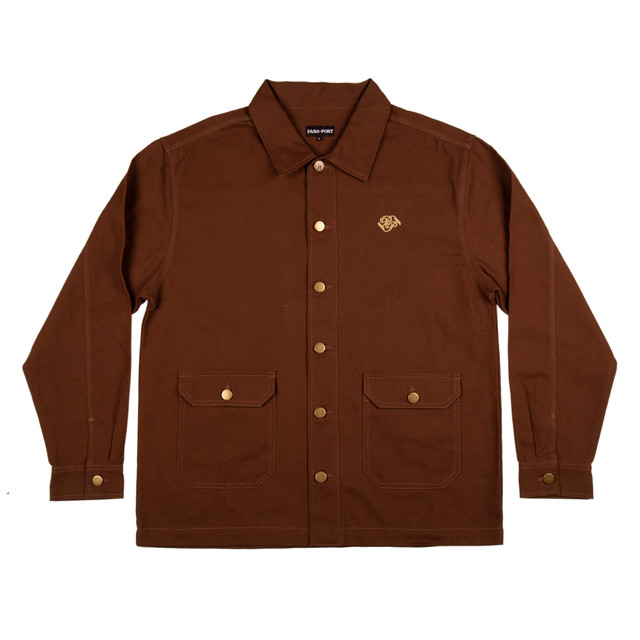 PASS~PORT MASTERS JACKET-BROWN
