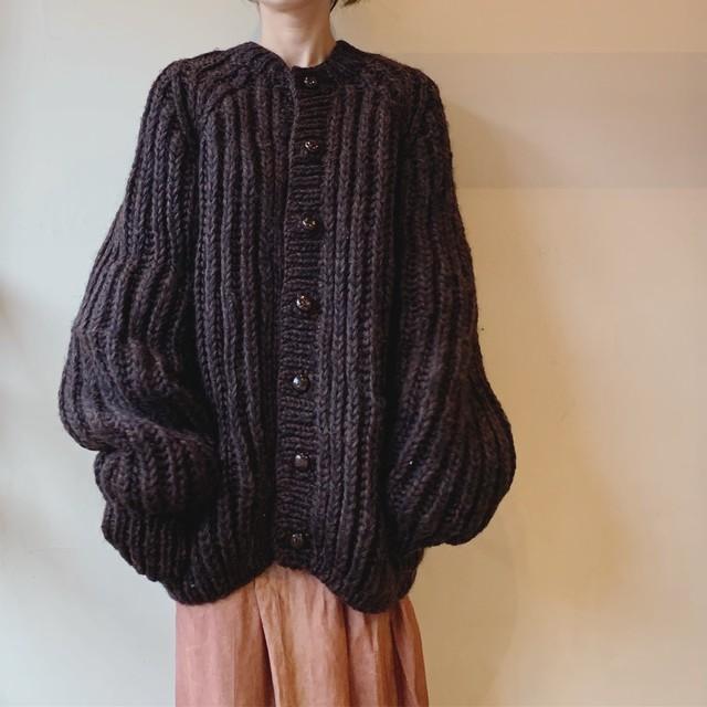 vintage hand knit widesized cardigan
