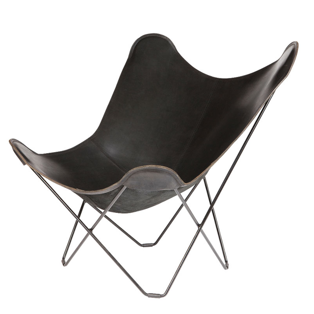 BKF BUTTERFLY CHAIR PAMPA MARIPOSA POLO BLACK  LEATHER