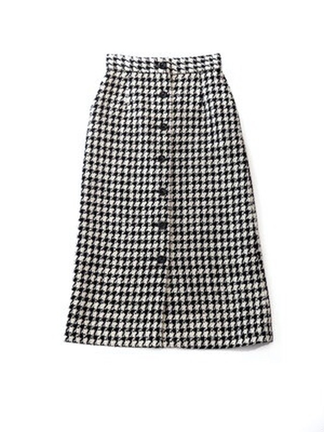 【ELIN】Tweed Front Bt Skirt