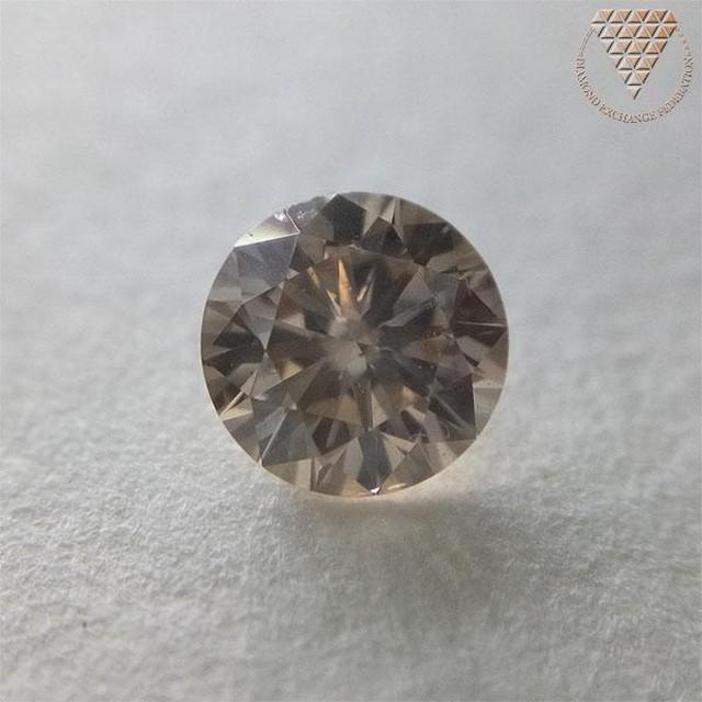 0.421 ct F. L. BROWN 天然 ブラウン ダイヤ