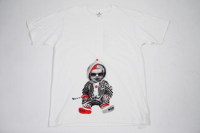 【StarLean】ベイビープリントTシャツ【ホワイト】