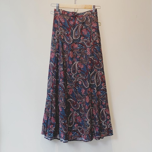 【SALE】vintage paisley design skirt