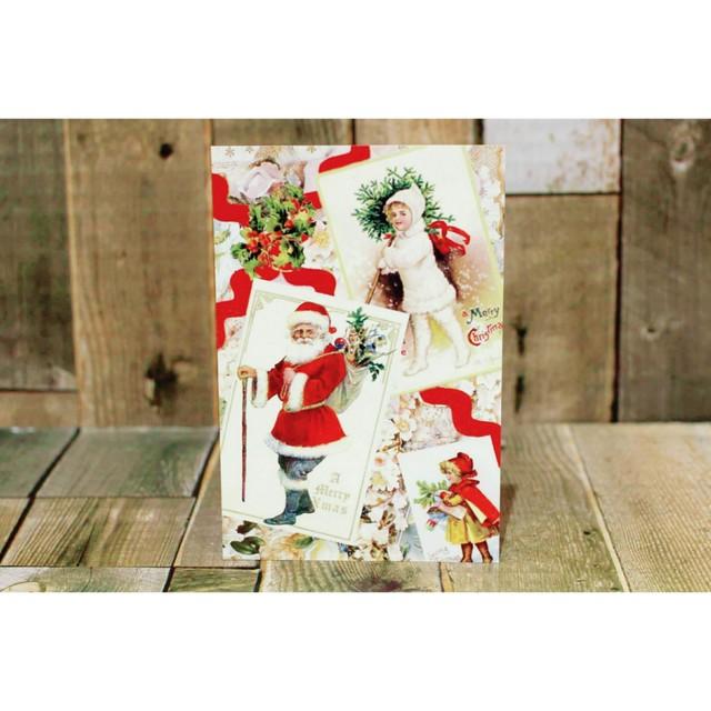 クリスマスポストカード(サンタクロース&女の子)/クリスマス雑貨/浜松雑貨屋 C0pernicus