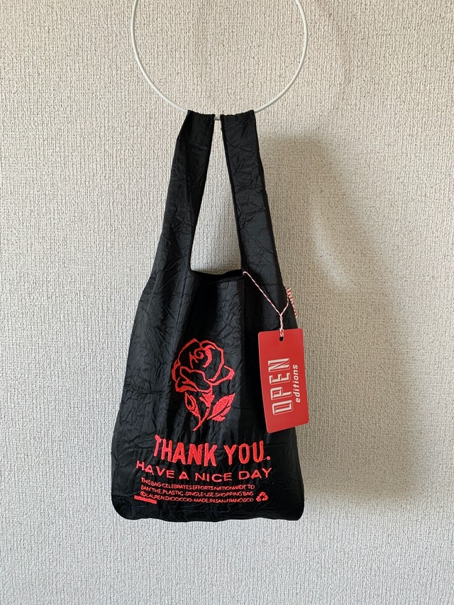【OPEN EDITIONS】THANK YOU MINI エコバッグ/ ROSE Black