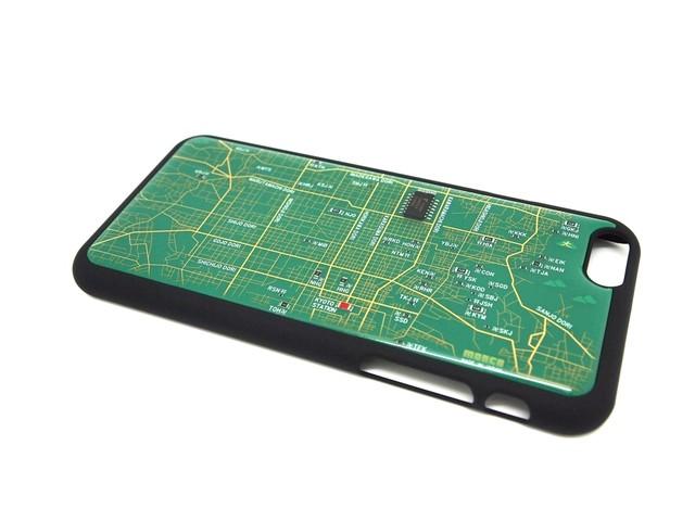 京都回路地図 iPhone6ケース 緑【LEDは光りません】【東京回路線図A5クリアファイルをプレゼント】