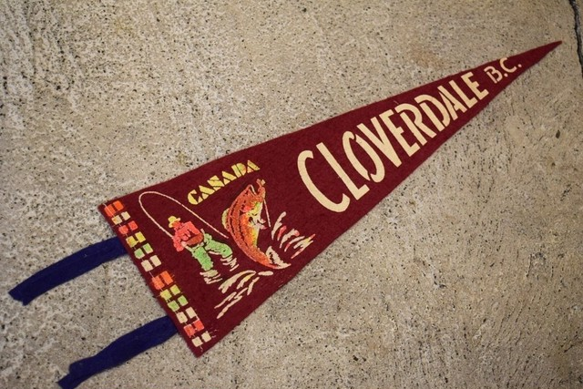 USED Vintage Pennants Canada CLOVER DALE B.C G03