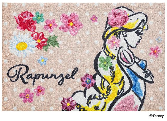 Disney Mat Collection ディズニー 玄関マット Rapunzel/ラプンツェル  国産 日本製 クリーンテックス製