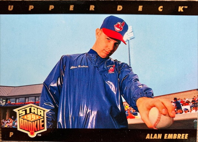 MLBカード 93UPPERDECK Alan Embree STAR ROOKIE  #012 INDIANS