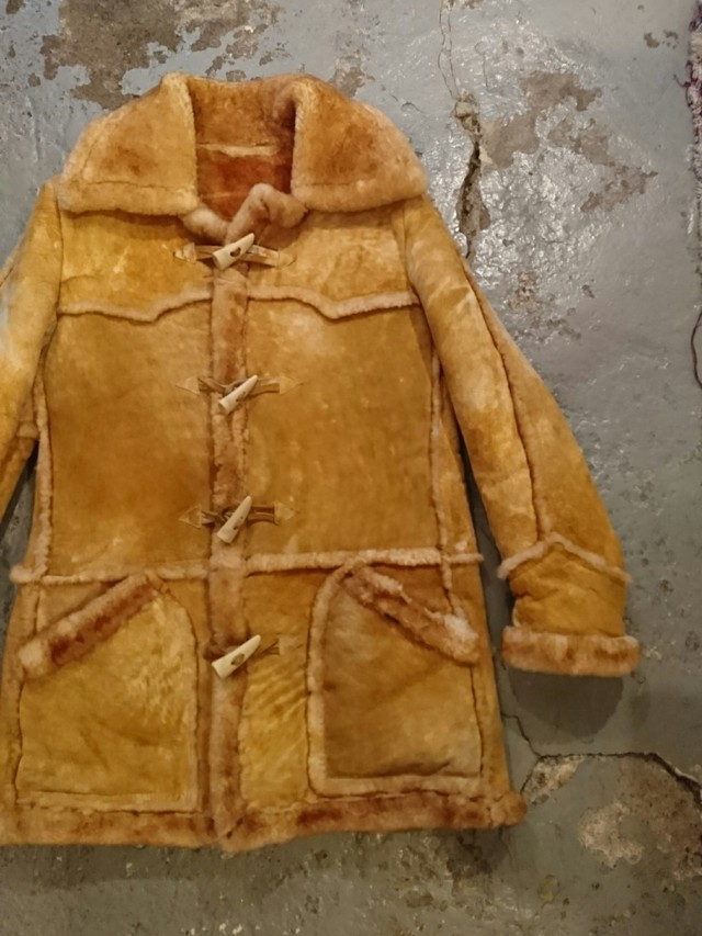70s TOGGLE MOUTON FUR JACKET