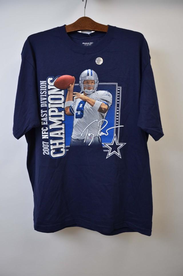【Lサイズ】 REEBOK リーボック NFL 2007 ED CHAMPIONS ナショナルフットボールリーグ チャンピオンズ 半袖 Tシャツ NAVY 400601190726