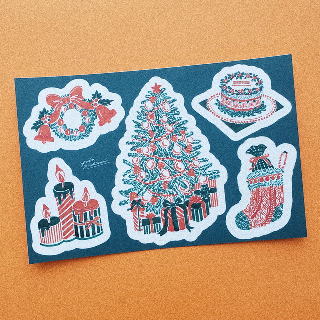 Xmas sticker set