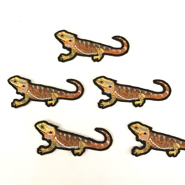フトアゴヒゲトカゲの刺繍ワッペン