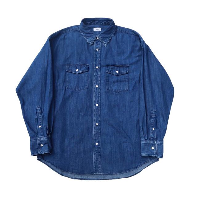Allege. 20AW Denim Shirt (Blue)