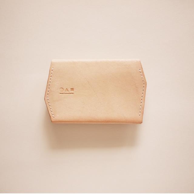 かたち カードケース / ひらく六角形