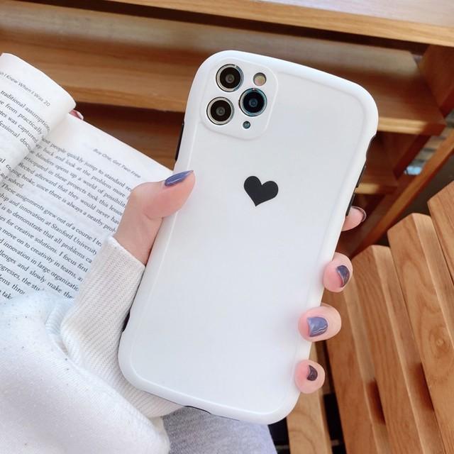 iPhone ケース 韓国 シンプルハートくすみカラーケース 個性的 シンプル ケース カバー 傷防止 可愛い おしゃれ iPhone7 iPhone8 iPhoneSE2 iPhoneX/Xs iPhoneXR iPhoneXsmax iPhone11 iPhone11Pro iPhone11Promax スマホケース 携帯ケース