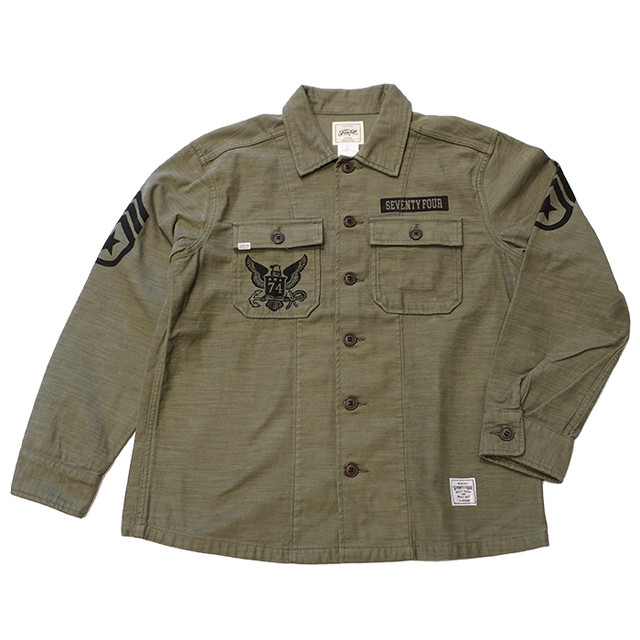 SEVENTY FOUR(セブンティーフォー) /  MILITARY FATIGUE SHIRT JKT(STF20SF20)(シャツジャケット)