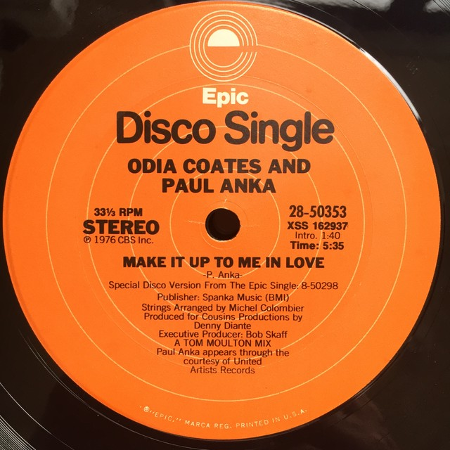 Odia Coates And Paul Anka ‎– Make It Up To Me In Love
