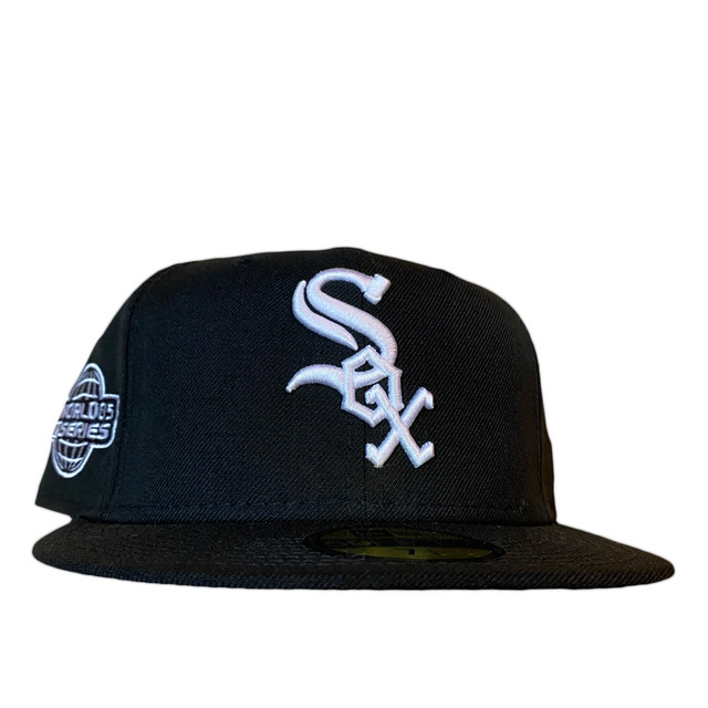 NEW ERA Chicago White Sox 2005 World Series 59Fifty Fitted / Black×White (Pink Brim)