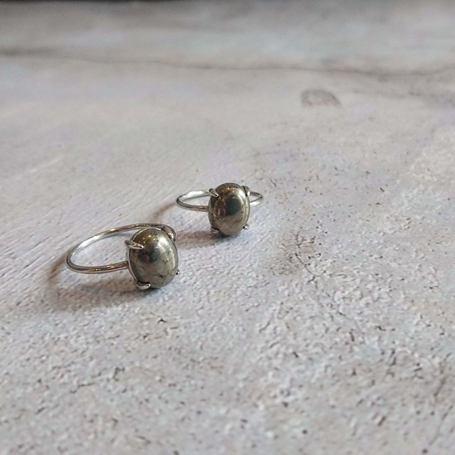 Silver925 Gem stone Ring Pyrite