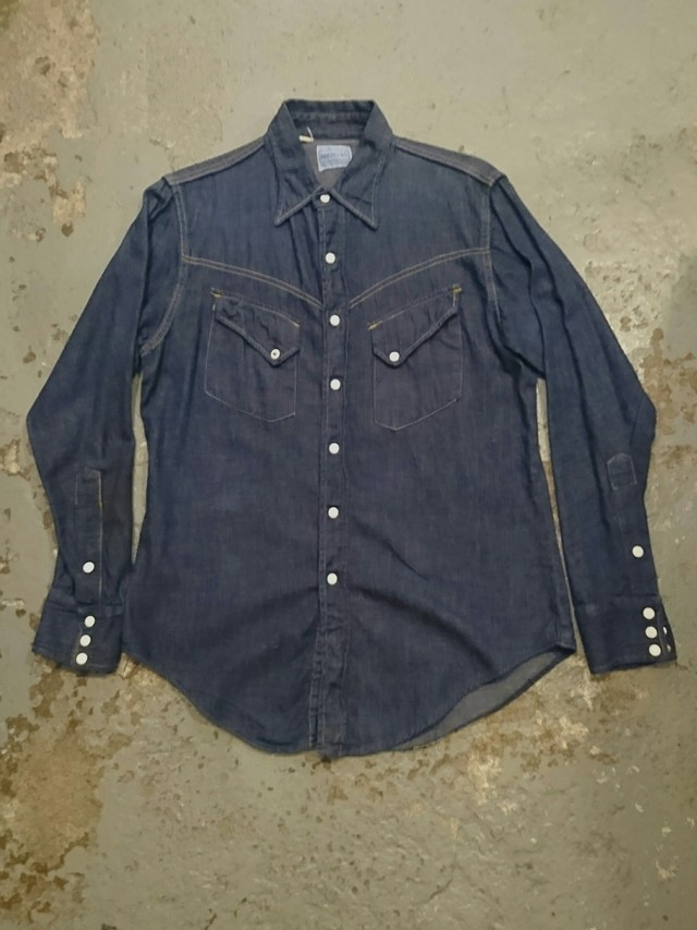 "1950s ""ROEBUCKS DENIM WESTERN SHIRTS"""