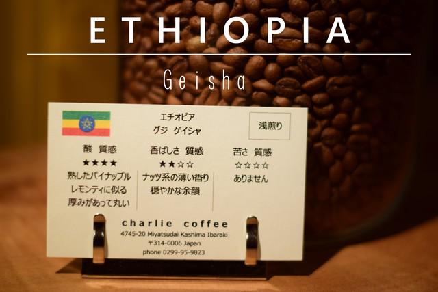 浅煎り/エチオピア グジ ゲイシャ 1kg