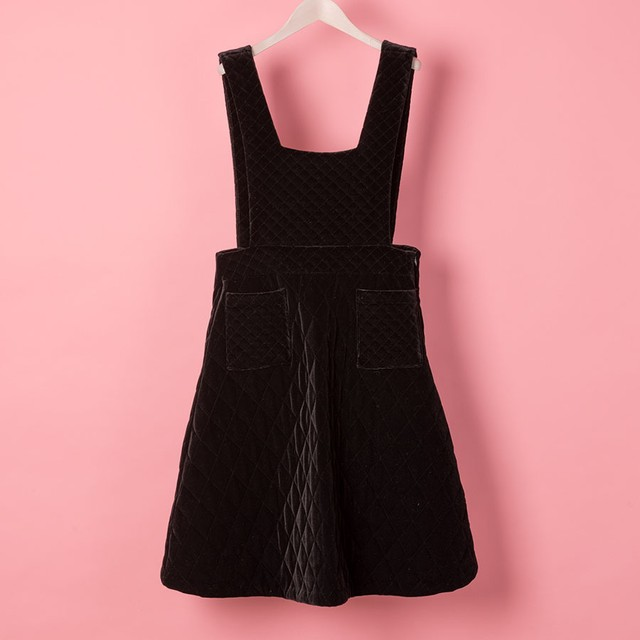 QUILTED VELORE DRESS (VN1712001)