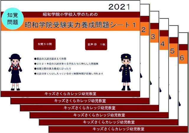 昭和学院小学校受験実力養成問題シート 第5集 「言語」