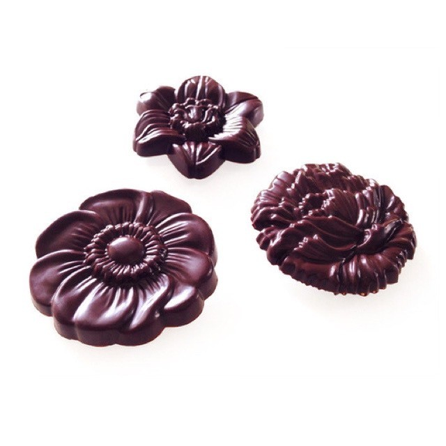 flower medal dark (オハナメダル * ダーク)  raw chocolate