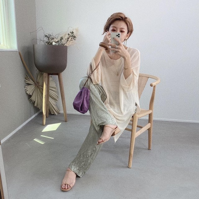 Summer knit sheer PO /ivory
