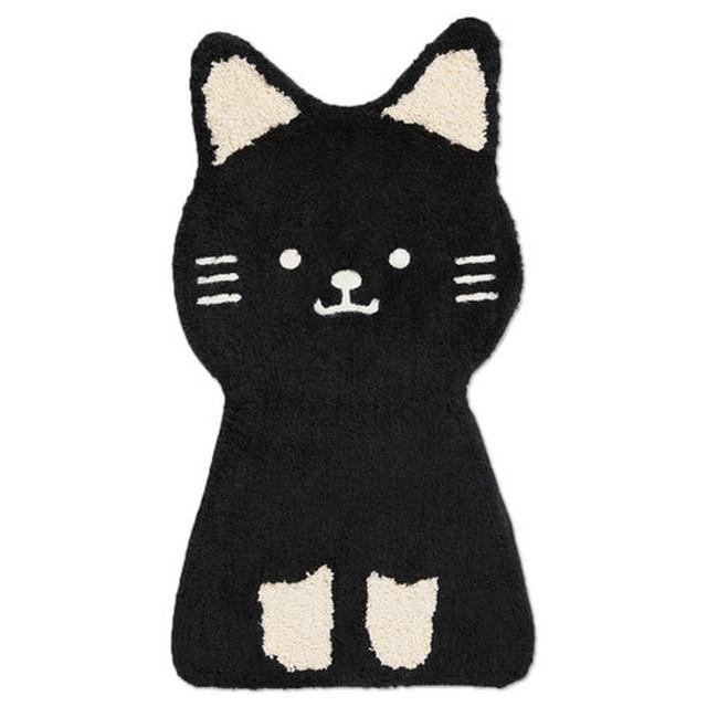 招き猫マット セミサークル アニマル