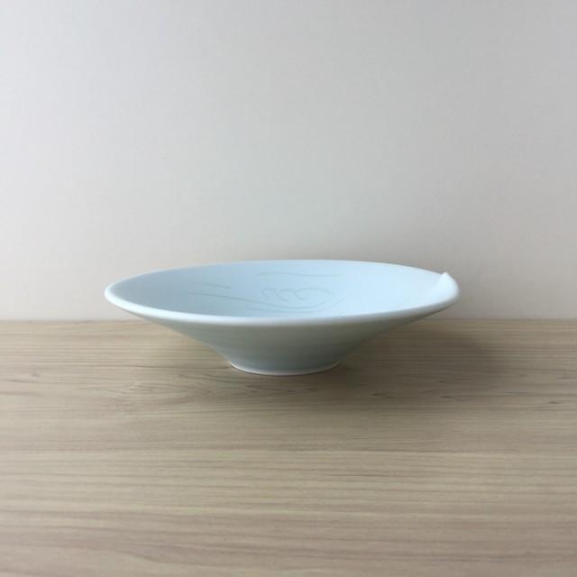 【有田焼】青磁流水紋 六寸皿
