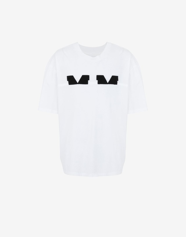 Maison Margiela Spliced MMlogo t-shirt white