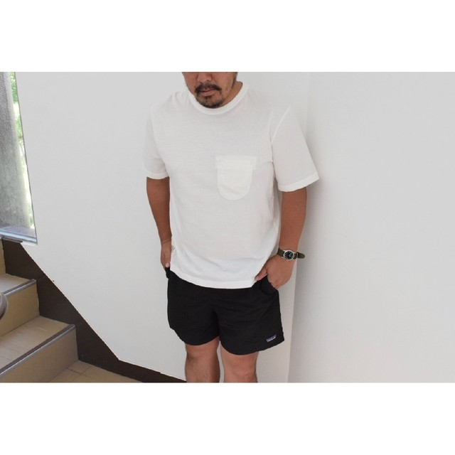 Simva104-0042S-White W-Pocket S/S Tシャツ