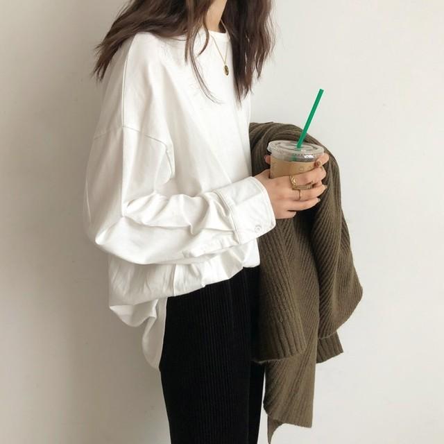 Cotton long sleeve shirt(コットン/ロングスリーブシャツ)a-211
