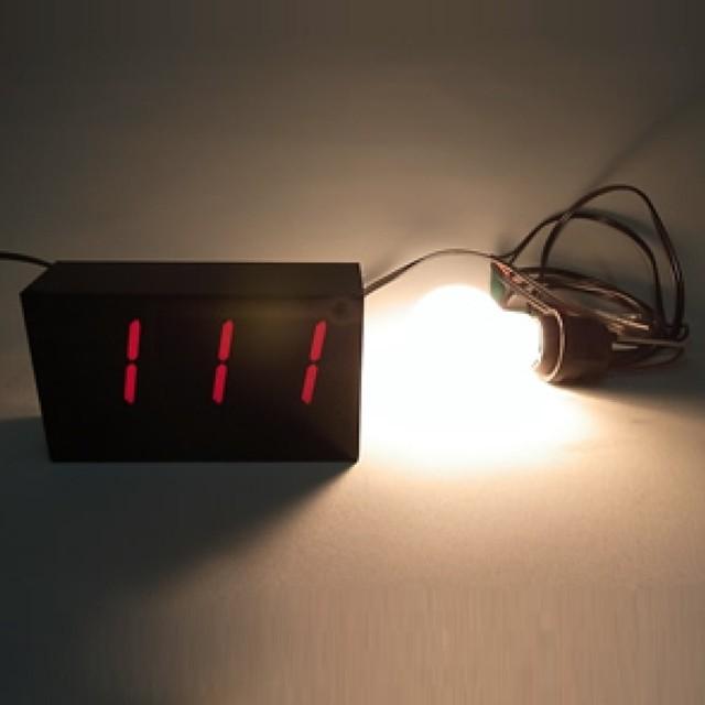 【AC100V 100W】消費電力計測器 3桁簡易タイプ:表示範囲 [0.1~99.9W]