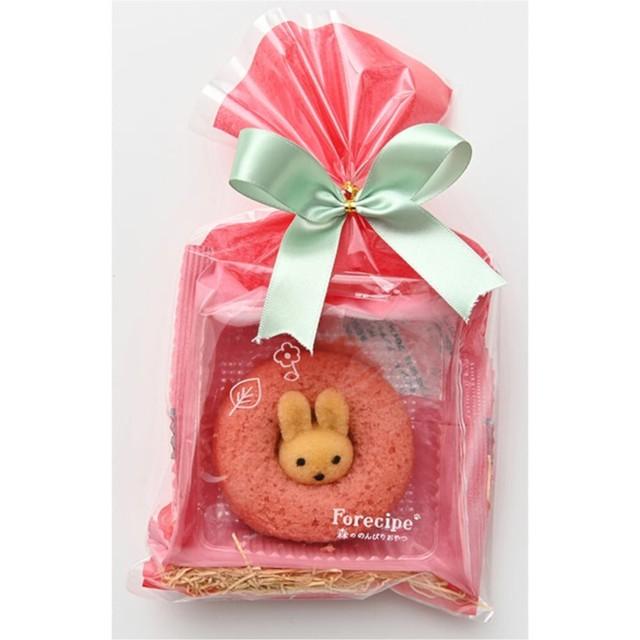 Forecipe(フォレシピ) ラッピング ちいさな森のドーナツ うさぎイチゴ×5個