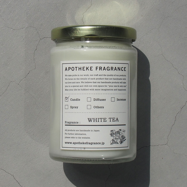 APOTHEKE FRAGRANCE GLASS JAR CANDLE