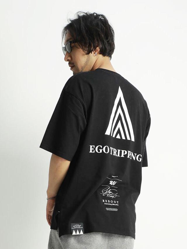EGO TRIPPING (エゴトリッピング) A.D. TEE アドバンスアンドベーシックTシャツ / BLACK 663712-05