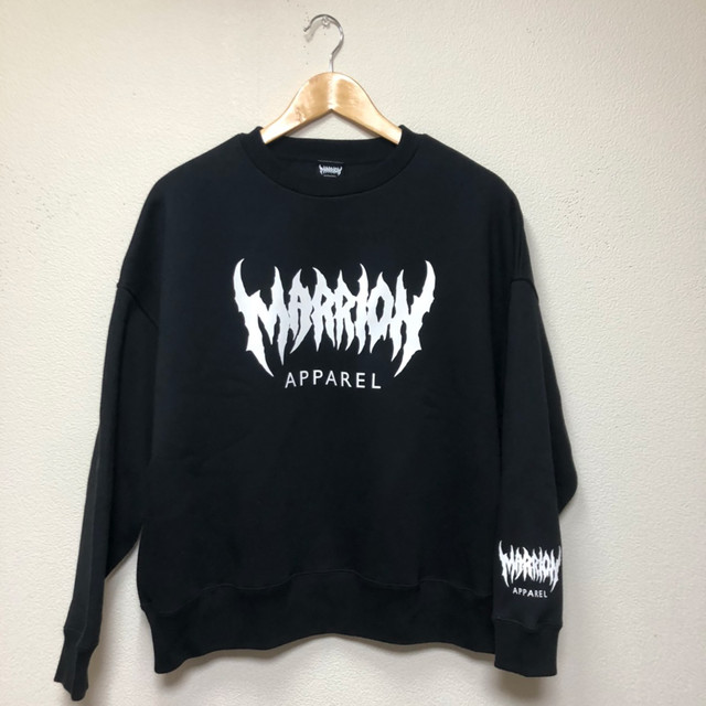 MARRION APPAREL LOGO Big Silhouette SWEAT (BLACK)