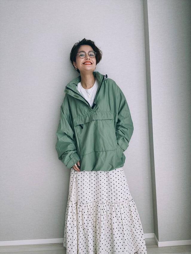 (OT247)90's Old GAP nylon half zip pullover