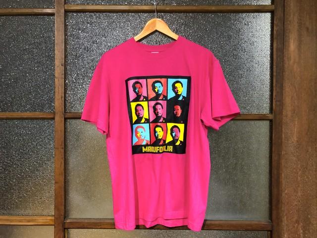 """MARUFORLIA TEE """"表向きは非公認?実は公認ブートTシャツ?!""""  (TAKAYA'S TROPICAL PINK)"""